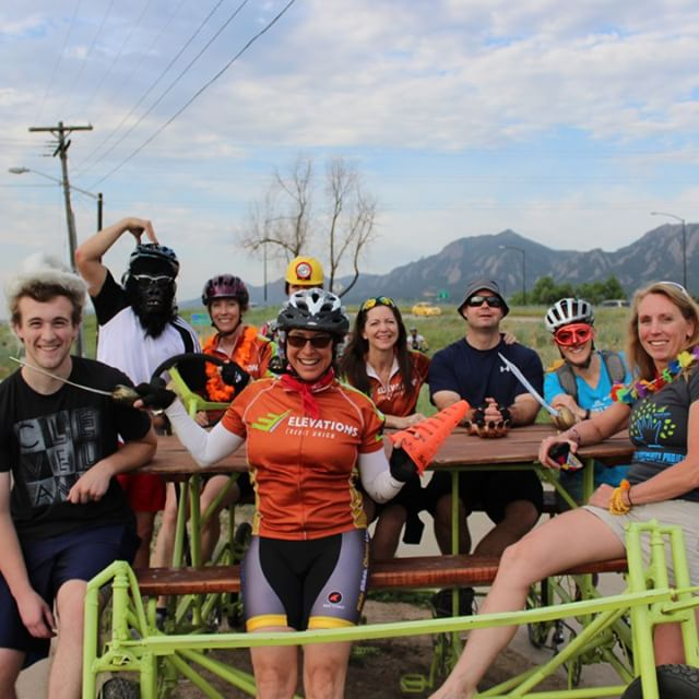 Our Picnic Bike was out for #biketowork day on the Goose Creek Path. Thank you to everyone that stopped by with Ripstop Repairs and @SherpaChai. We'll have more photos coming your way on our Facebook page! #coloradoliving #bikes #holiday #greengurugear...