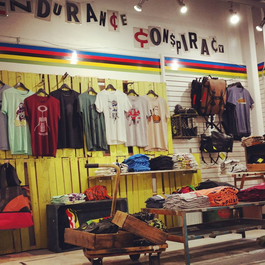 Want to see the coolest new #popupshop in #seattle? Well come visit us, @enduranceconspiracy and @alchemygoods across from #pikeplacemarket. We are only there for a short time, so come while you can! #bikes #upcycling #trilife #madeinusa