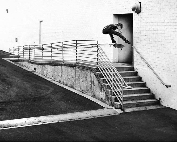 #ElementAdvocate @jakedarwen captures @_julian_davidson blast a beautiful heelflip for our latest ad in @thrashermag