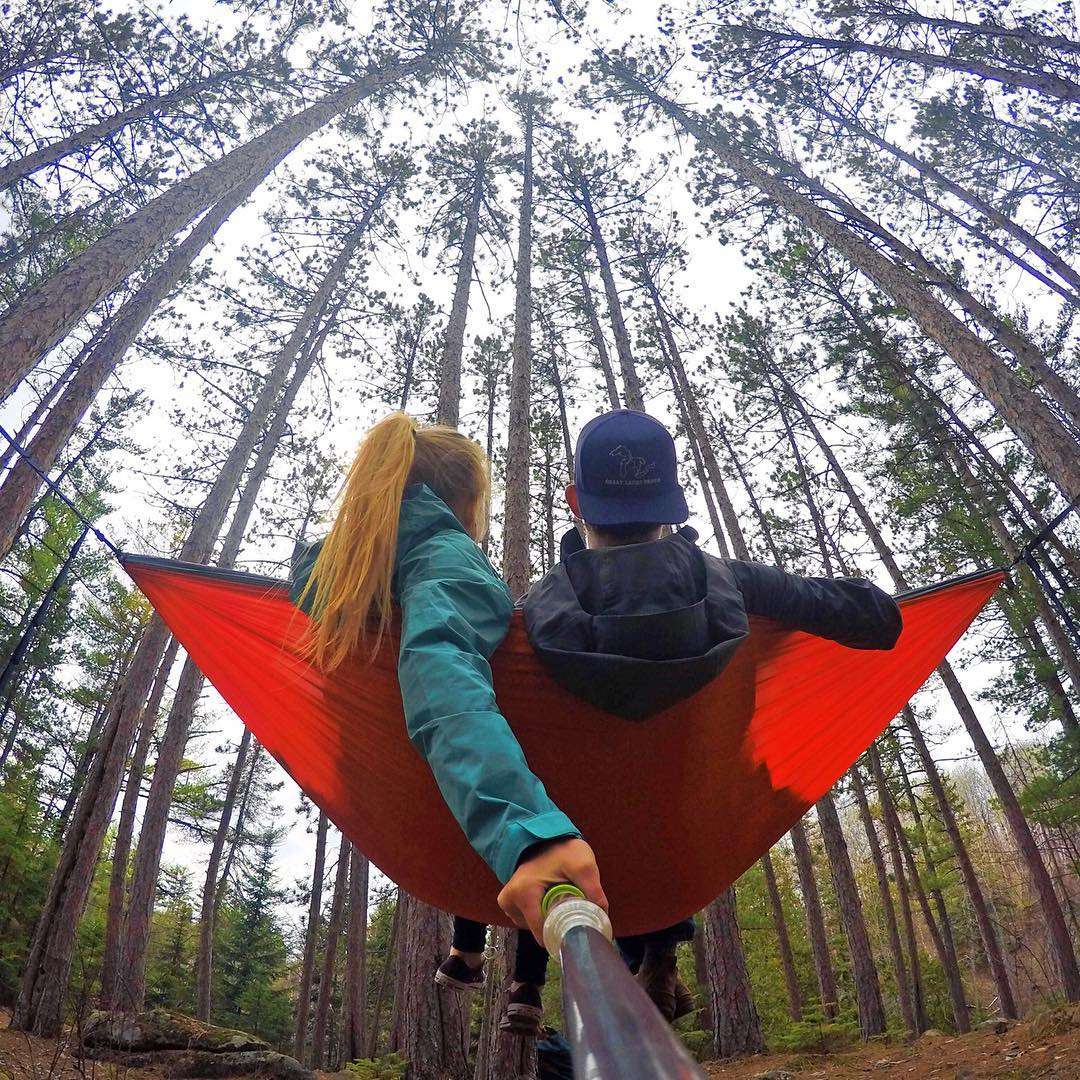 @drake_fiske and @maeakristine relaxing in the wilderness. Shot with GoPro HERO4 and GoPole Evo. #gopro #hero4 #gopole #gopoleevo #hammock #