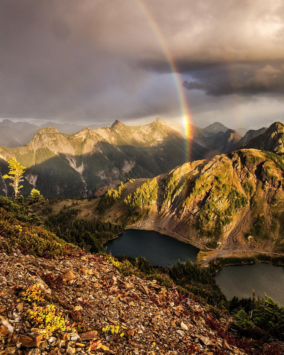 "RADPARKS TAKEOVER W CHRISTIN  @christinhealey on #northerncascades ""Northern Cascades: Those fleeting moments out there in the wild, where the mountains give you brief glimpses of magic. This rainbow mountain goodness is from one of my favorite spots..."