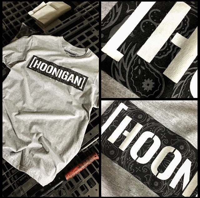Closer look at our Bandana Fill C-bar tee! Available now on #hooniganDOTcom.