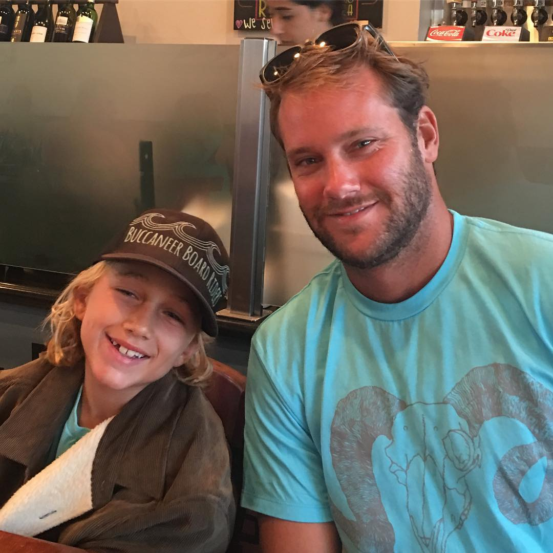 Angels game, Rance's Chicago Pizza, and dinner with Granger. Good luck tomorrow. We'll see you at the US Open. #rancespizza #angelsbaseball #grangerlarsen #bbr #bbrsurf #bbrsurfwear #buccaneerboardriders #gobig