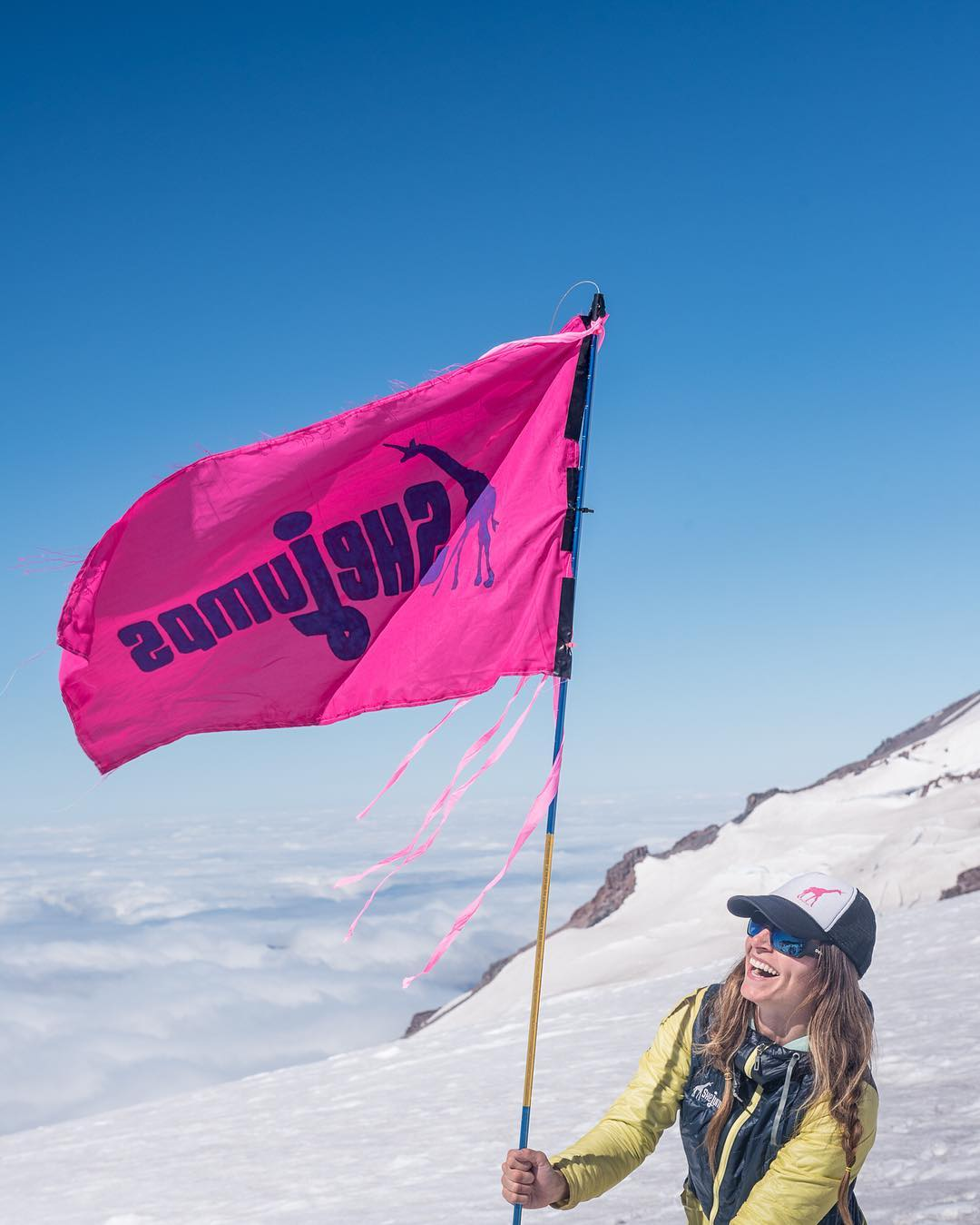Rainier Climb Series 3/5: Of all the amazing images and stories we could tell you about our time on Rainier, we'd have nothing to talk about if this brave Girafficorn incarnate had not decided to take a jump with us a few years ago. @christy_pelland is...