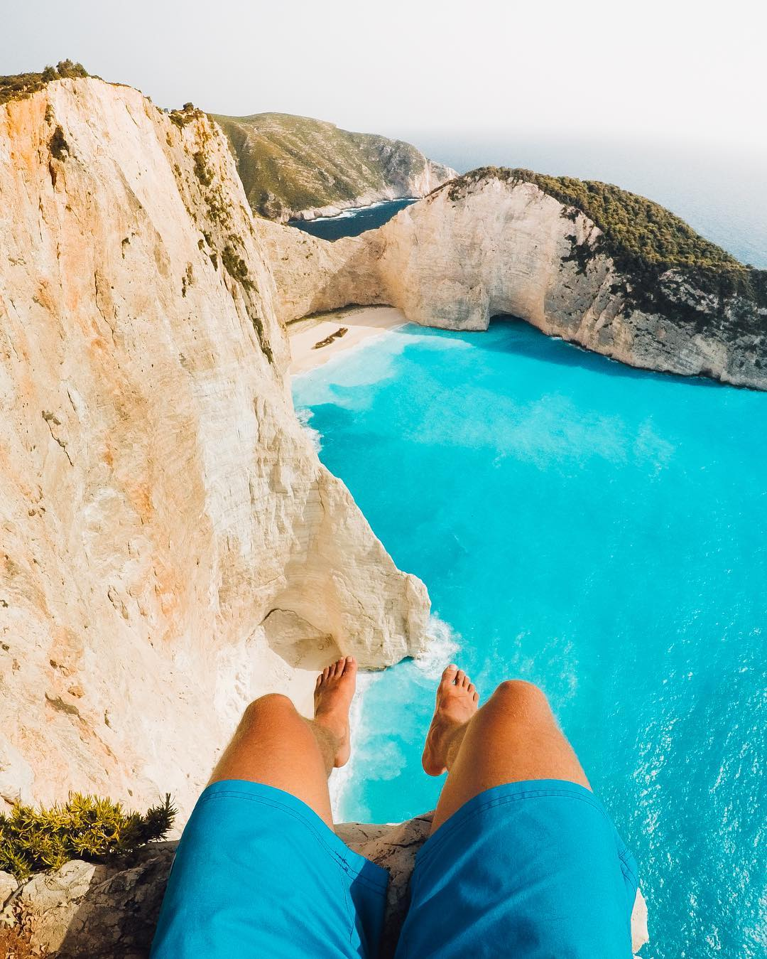 Photo of the Day! @martin_karner is wayyyy up and feeling blessed at #shipwreckbeach. Feeling the #weekendvibes already? Tell us where your going and share with us via link in our bio! #GoPro #GoProTravel #Greece #Zakynthos #Travelgram #Navagio