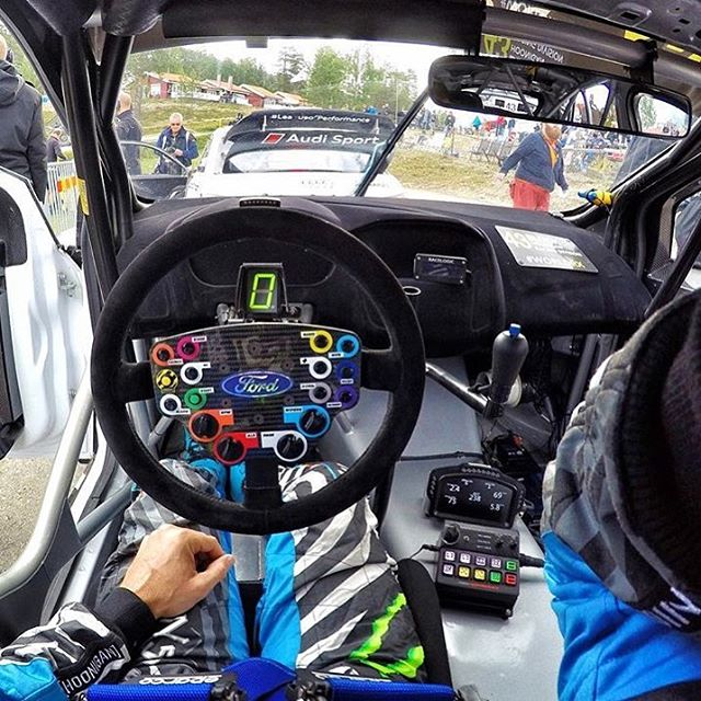 "#TBT to my ""office view"" a few weeks ago, at @FIAWorldRX in Höljes, Sweden. I miss being inside my Ford Focus RSRX - looking forward to racing it in Canada next week! #officeview #FocusRSRX"