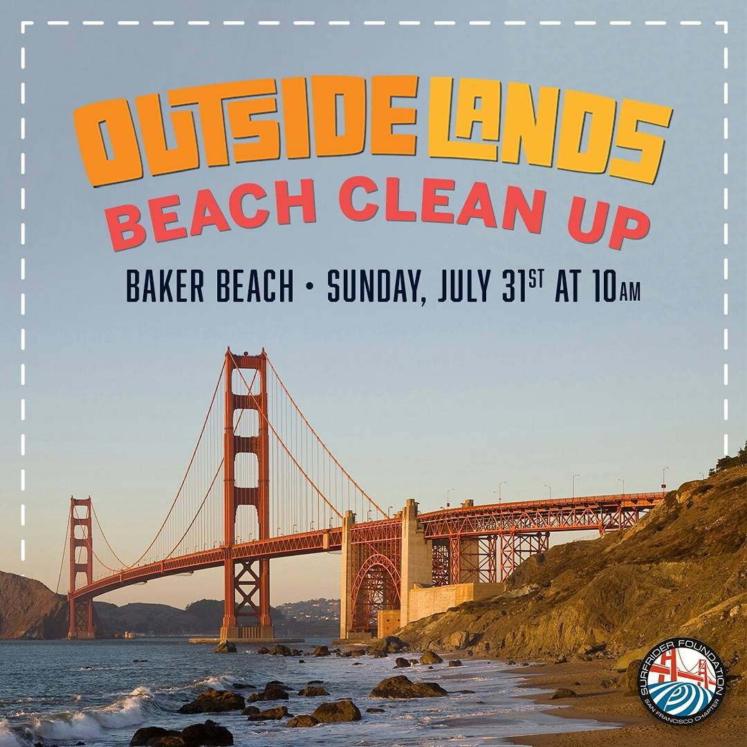 Sunday, Sunday, Sunday! @outsidelands beach cleanup @ Baker Beach 10a-12p! @live105 will be on the scene giving away a 3-day pass to the sold out festival! This is a #wastefree event so please #byoc! #surfriderfoundation #protectandenjoy #outsidelands...