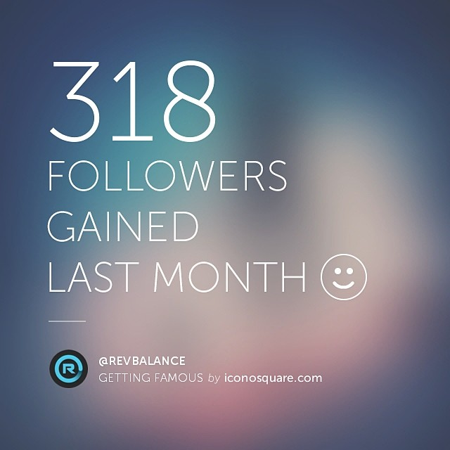 Thanks everyone, your support is amazing! Almost at #1000 followers www.instagram.com/revbalance