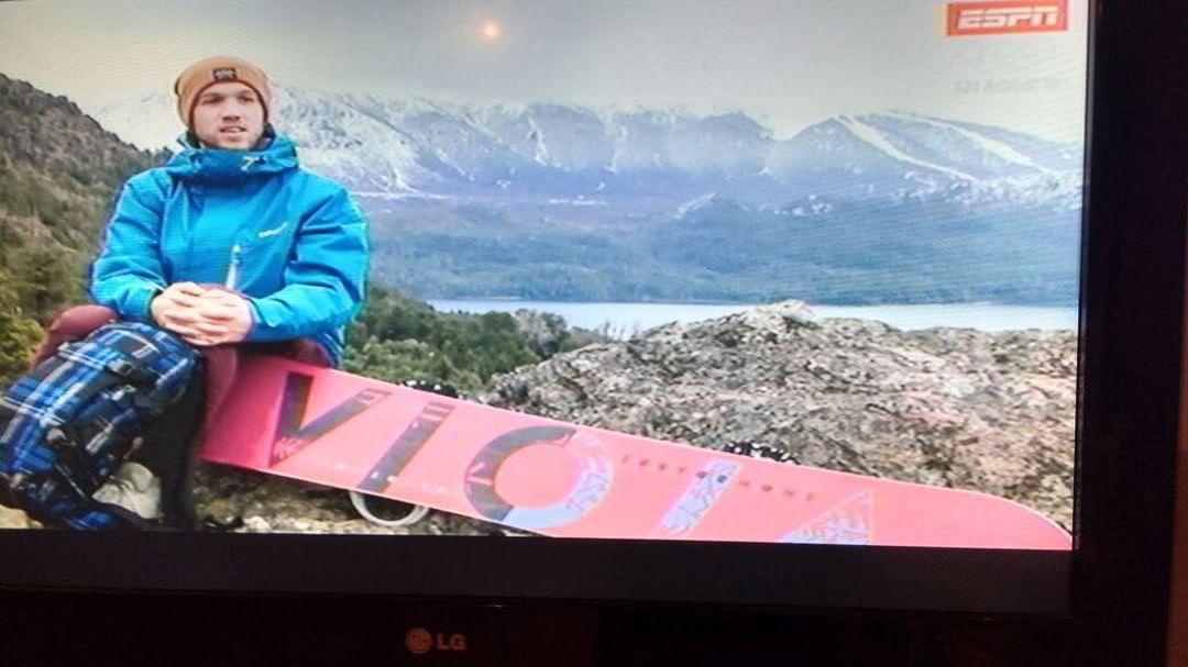@gastonstocker en las pantallas de snowtime en espn. No te lo pierdas!