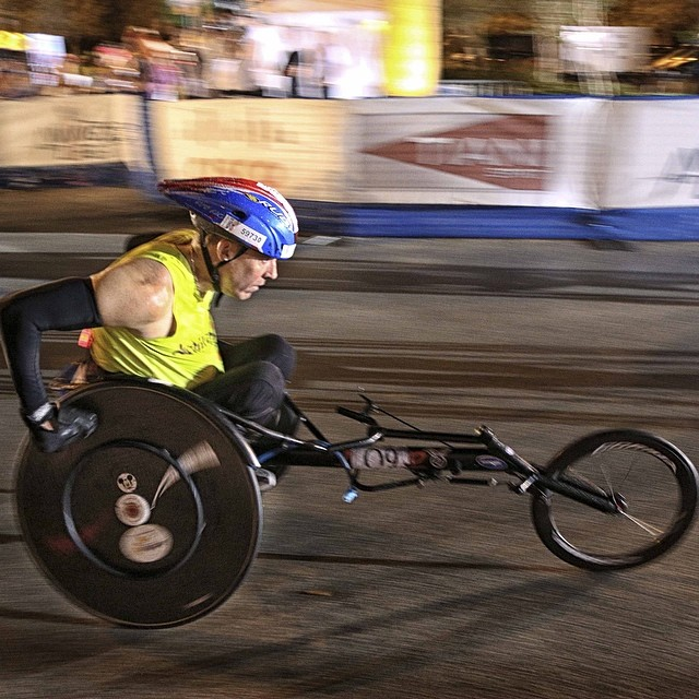 Here we go: #wingsforlife #worldrun wheelchair races in the US. @WFLWorldRun