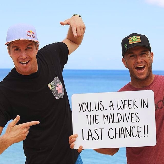 Are YOU as ready for SEVEN days in the Maldives as Shane and I are? There are less than 48 hours left to enter! All to support a good cause, MORE Than Sport. For your LAST chance to win, click on  http://omaze.com/maldives! : @whoisjob