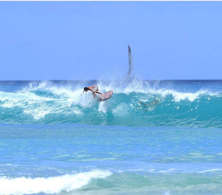 Floating on towards Friday | Team Rider @mauizack808 #inspiredboardshorts