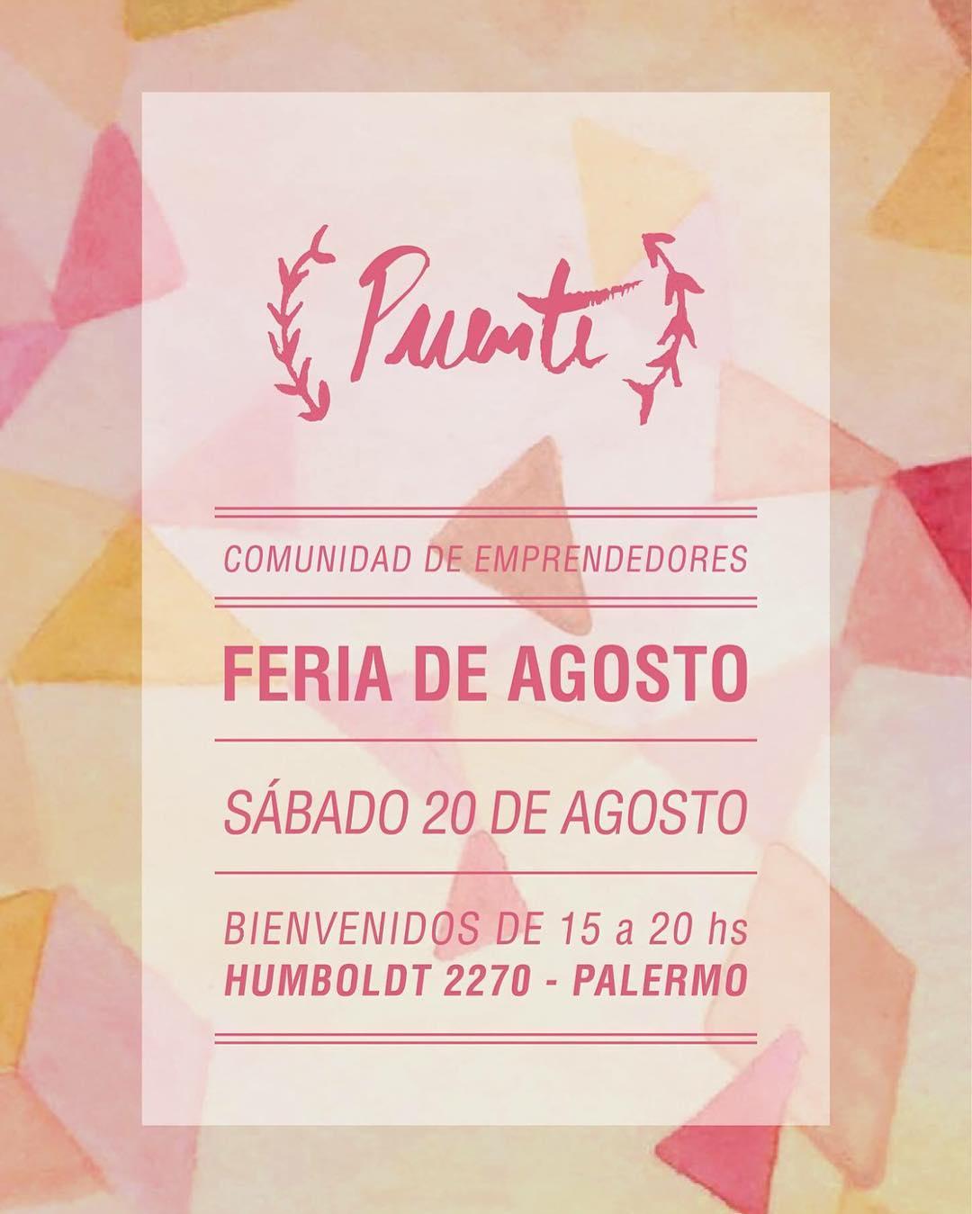 El sábado 20/8 estaremos en #Puente #emprendedores :)