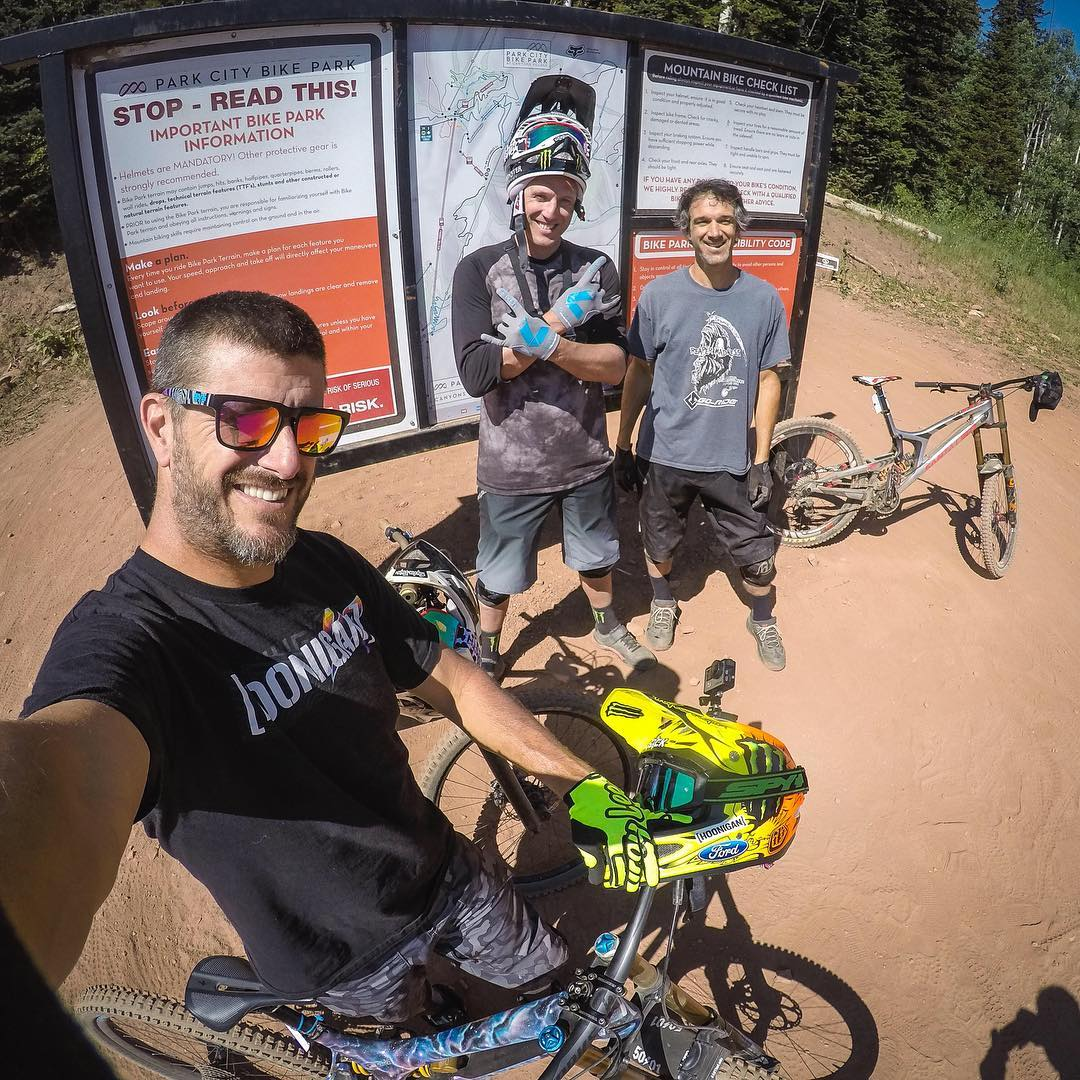 @StevePeat's Park City tour continues. Yesterday's fun: downhill fun at one of my favorite resort trails, called Rally Cat. My buddy Noah Brandon came along to throw his bike around as well. It's not every day that you can ride with a multi-time World...