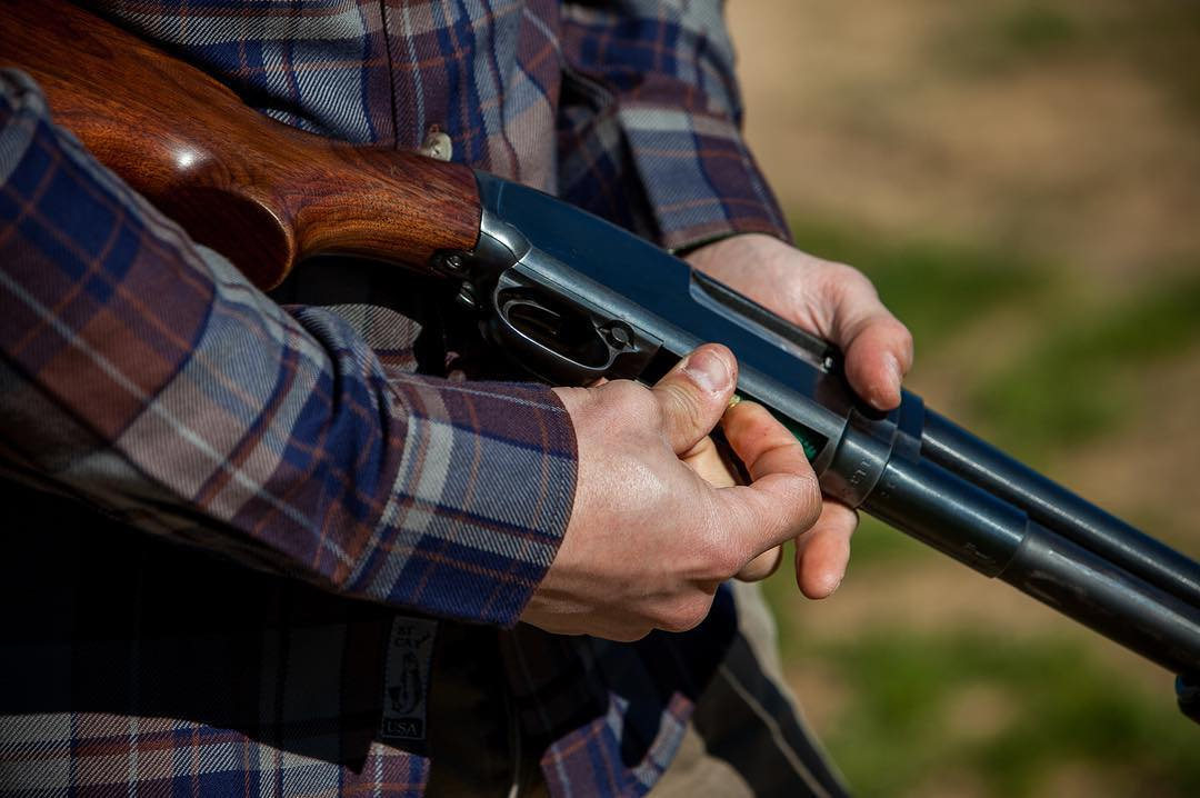 Nothing like a good flannel and a Model 12 to start the weekend.  #weekendfun #winchester #flannel #pladra