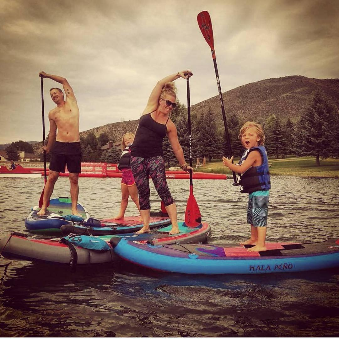 SUP yoga! Not just for adults! Channel you inner child with at Nottingham Lake in Avon 9am Monday-Saturday and 6pm Sunday-Tuesday and Thursday. Photo:@trinwa  Thanks for the great post @inspiredbythai #yogadesigned #exercise #love #sup #paddleboard...