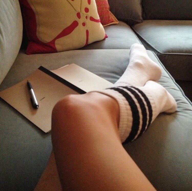 For us, #Saturdaze are all about couch sessions with our journal, not our therapist. #JustSayin | Rockin' @thesunsetsessions sox cuz they rox | #throwbackthursday