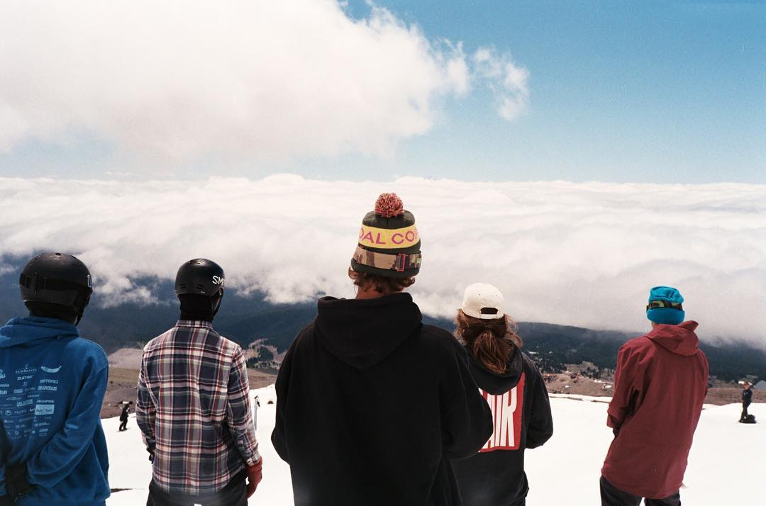 Waiting to drop above the clouds with ambassador @instagarry at @highcascade for #Campita last weekend. #coalheadwear #TeamBeanie #35mm