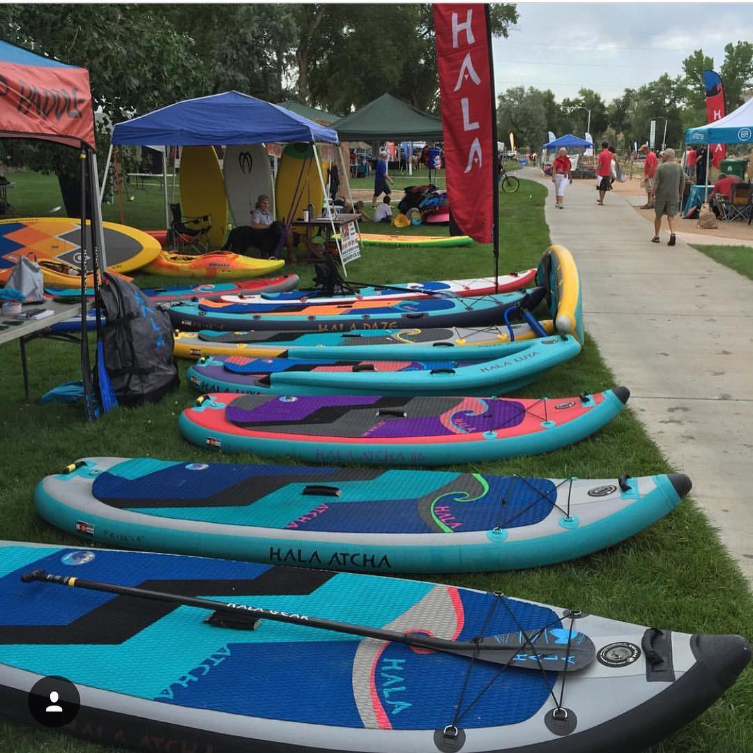 FUNC fest is on in Montrose! Come down visit our tent and demo a Hala Gear board! Photo: @agarhart  #standuppaddle #sup #paddleboard #paddle #whitewatersup #funcfest2016 #adventuredesigned #supdemo