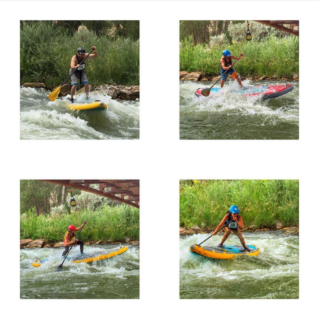 The Hala Gear team representing at FUNC fest in Montrose! Lots of fun at a great event. Photos: @agarhart  #supracing #adventuredesigned #whitewatersup #funcfest2016 #paddle #whitewaterdesigned #isup #inflatable #riverfestival