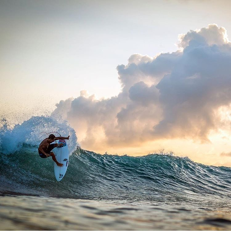 Slashing away on a Saturday with Team Rider @kainoahaas | Photo: @instaclamfunk #inspiredboardshorts