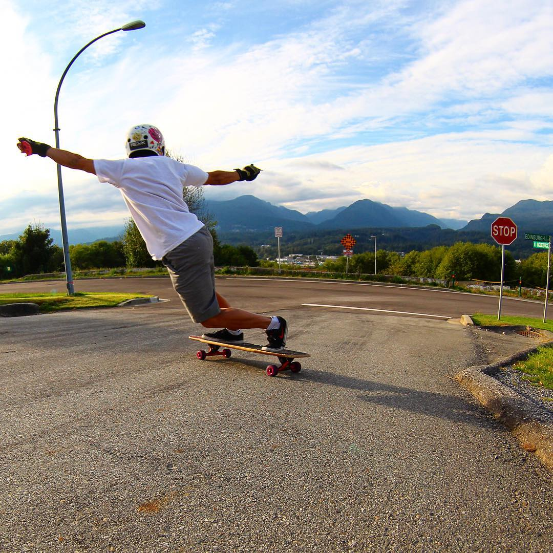 Big skies, big mountains, and big slides. Flow team rider @anuhlkingkong likes them all.