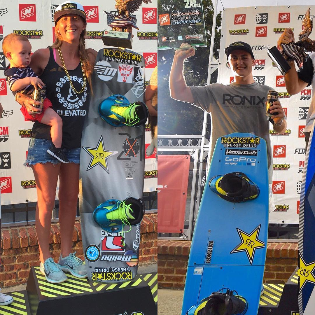 Congrats to @amberwing for taking the win at @thewwa Wakeboarding Nationals, and to @nicrapa for holding down 2nd. Cheers
