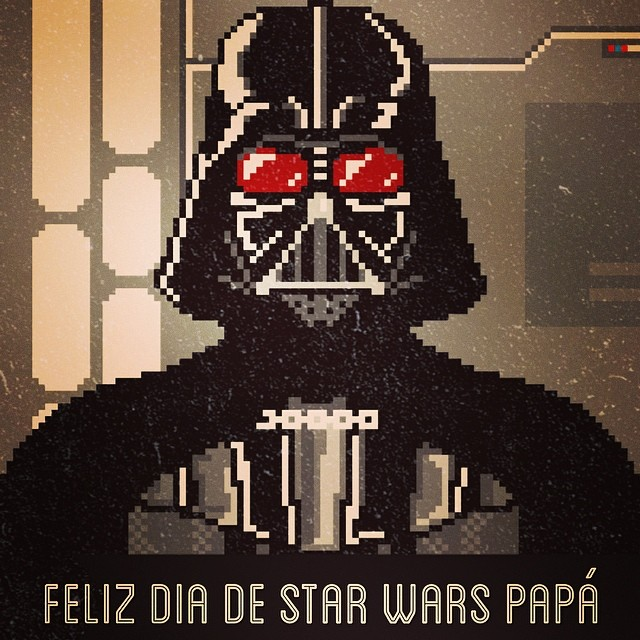 #starwarsday #pixelart #8bits #darthvader #geek
