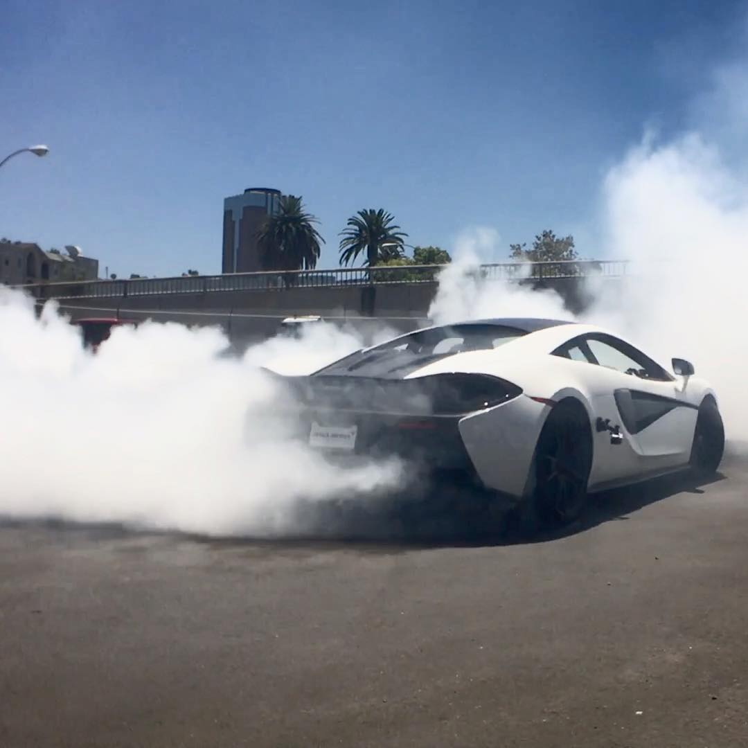 We had some fun in @miketornabene's #McLaren at the #DonutGarage last week. Who wants to see video? #soon #gnarpm