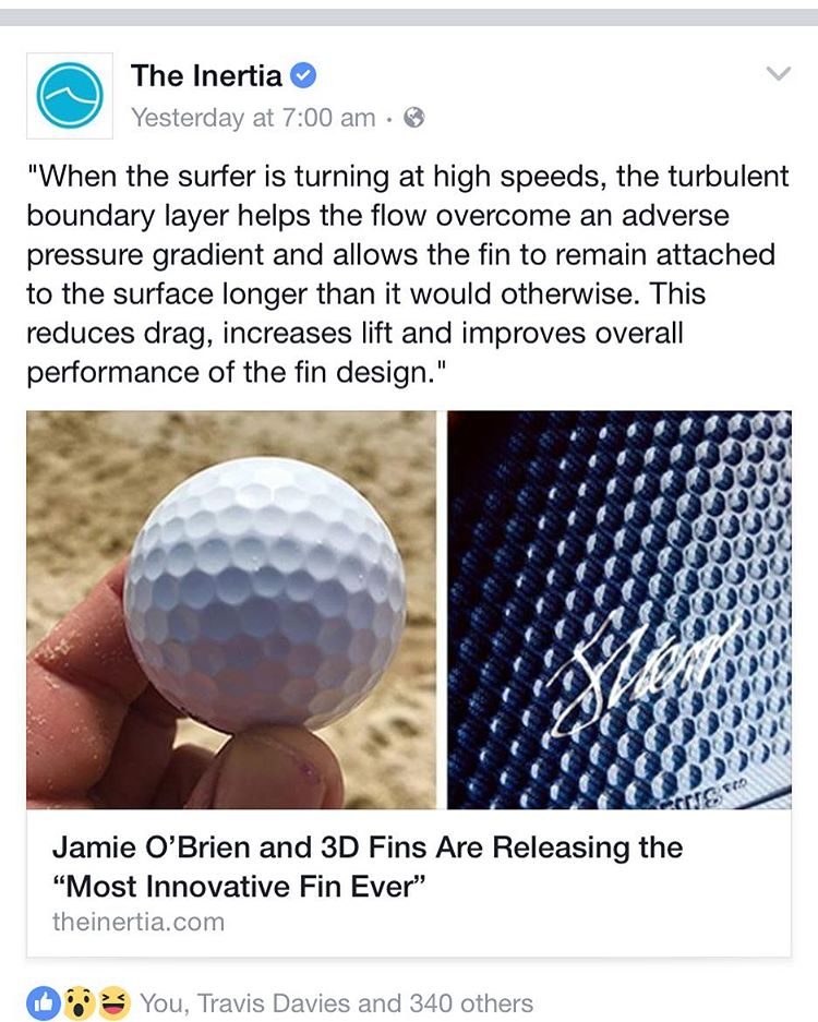 check out the inertia cool story @theinertia #3dfins #3dfins_jp #3dfinsbr #3dfinskorea #morespeed #moredrive #dimpletechnology