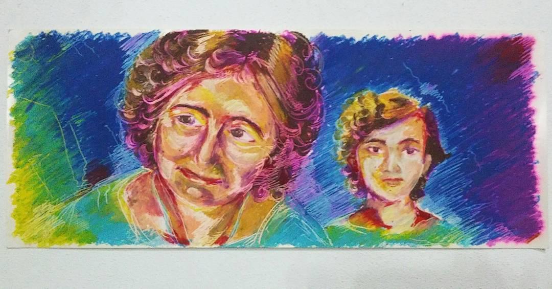 Algunos tenemos el privilegio de tener ángeles que nos cuiden desde antes de haber nacido.  #dibujo #2015 #drawn #drawings #arte #art #artwork #pasteles #oilpastel #grandma #abuelitaLina