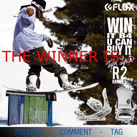 "Thank you to everyone who entered into the Flux ""Win It Before You Can Buy It"" contest for the Tyler Lynch @sababa_life and @gbpgremlinz Flux Bindings. If you didn't win, don't worry, next up you can win John Jackson's @johnjamun new 16/17 binders..."