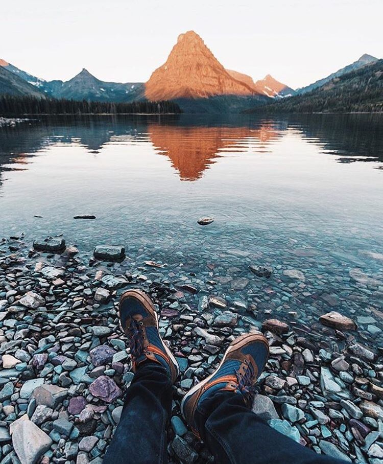 @monascherie enjoying the golden light at Two Medicine in @glaciernps