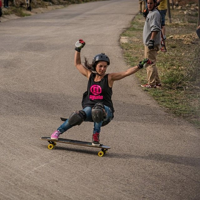 Go to www.longboardgirlscrew.com and check @mandarinwalls latest edit on #Titaweekend 2014 in Valencia. In the photo @guanchiviris on her way to take home 1st place. Spanish girls are killing it! @martagdiaz photo #longboardgirlscrew #laguancha...