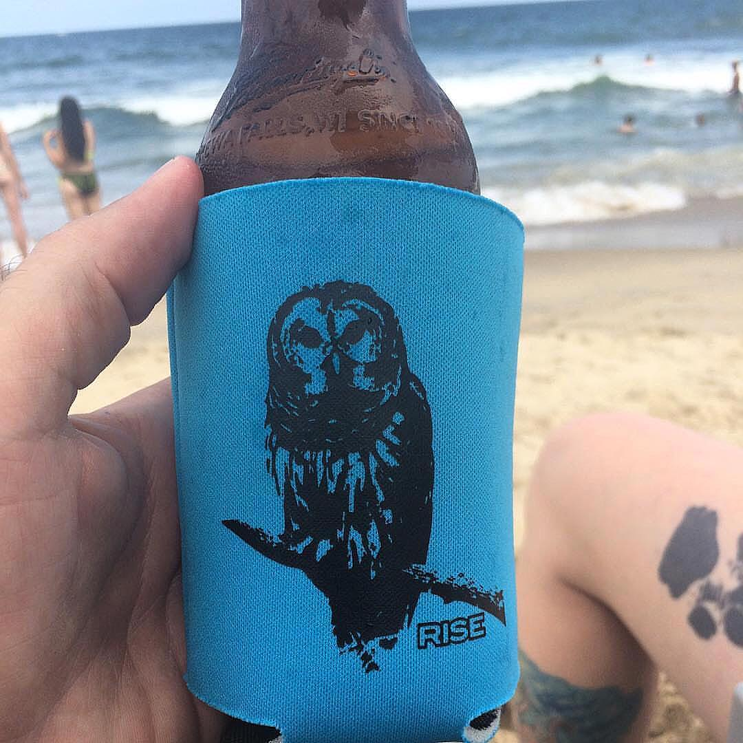 Owl koozie for the win.