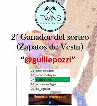 2° Ganador del Sorteo por unos Zapatos de vestir: @guillepozzi