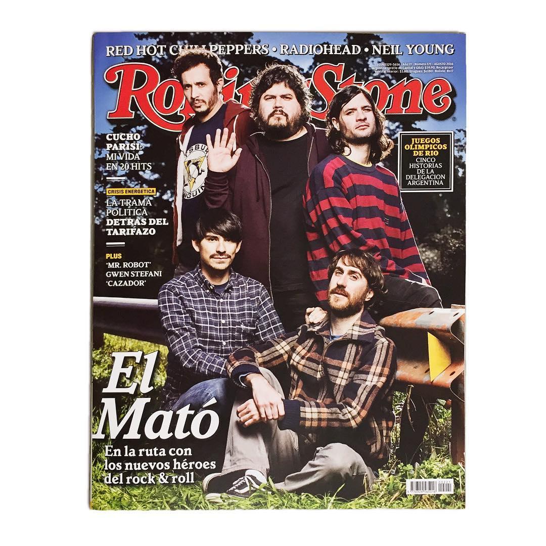 @elmatoaunpoliciamotorizado en la tapa de agosto de @rollingstonear. Merecido reconocimiento a la banda de La Plata y a una nueva generación de rock nacional.