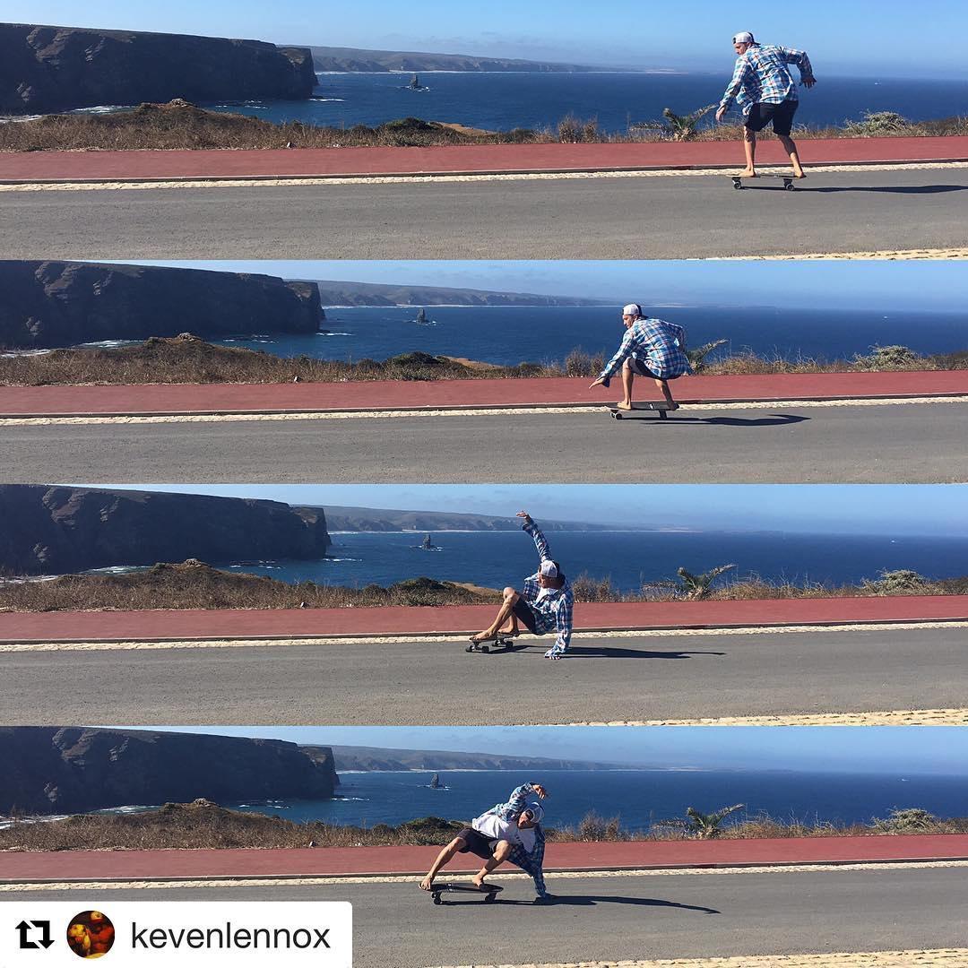 #Repost @kevenlennox with @repostapp ・・・ Carver sesión en Portugal - Sagres. @l.n.n.x @surfelements #lnnx #lennox #heenalu  #casadosventos #sup #supwave #supsurf #kitepoint #kitesurfing #kiteboarding #surfing #andalucia #islacristina #cadiz #sagres...