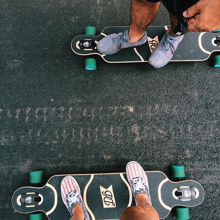 Couples who skate together stay together featuring @alliski and @mattwolk.  #dblongboards #longboard #cruise #summer #love