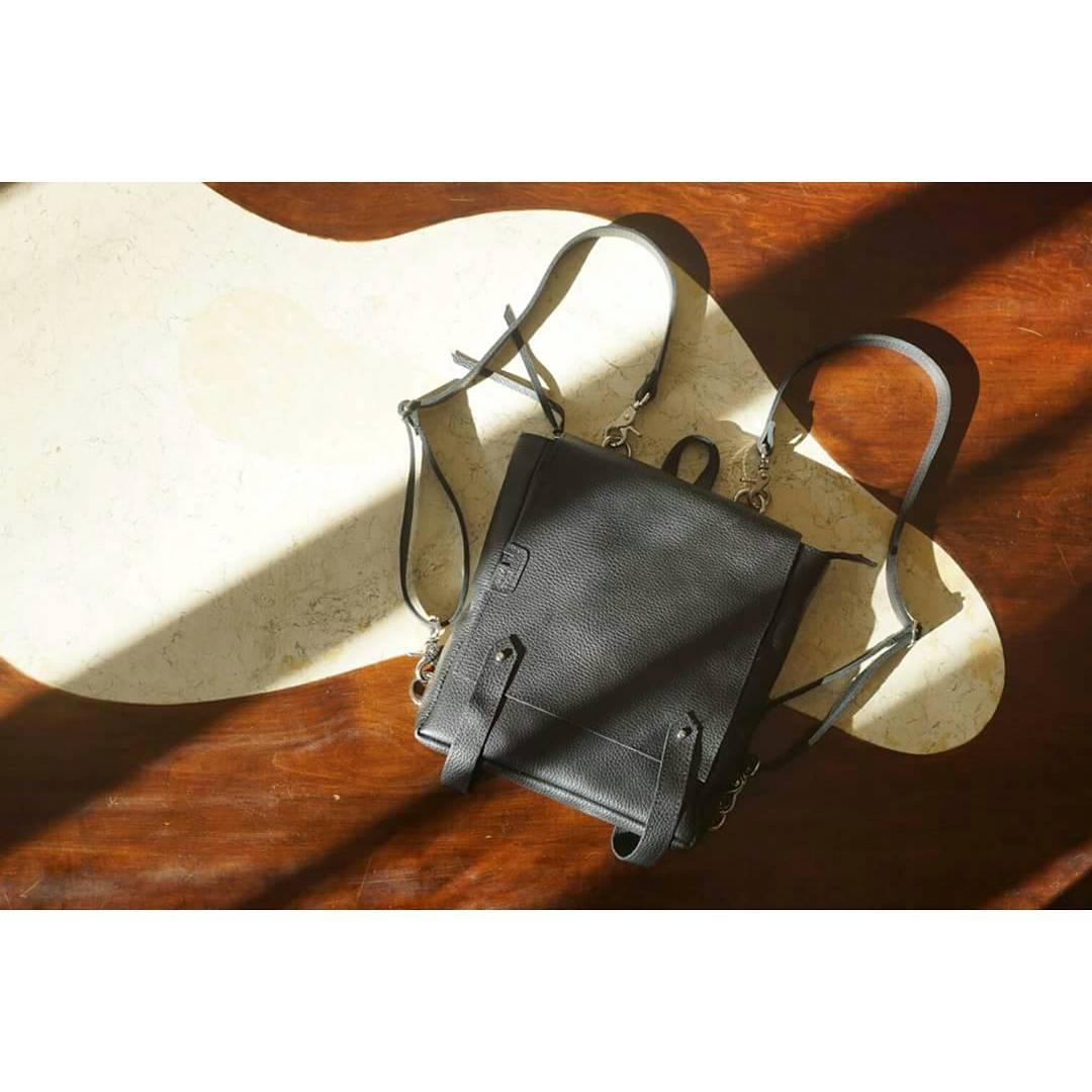 Mochila Almendra negra, disponible también en natural. Conseguila en www.mambomambo.com.ar .