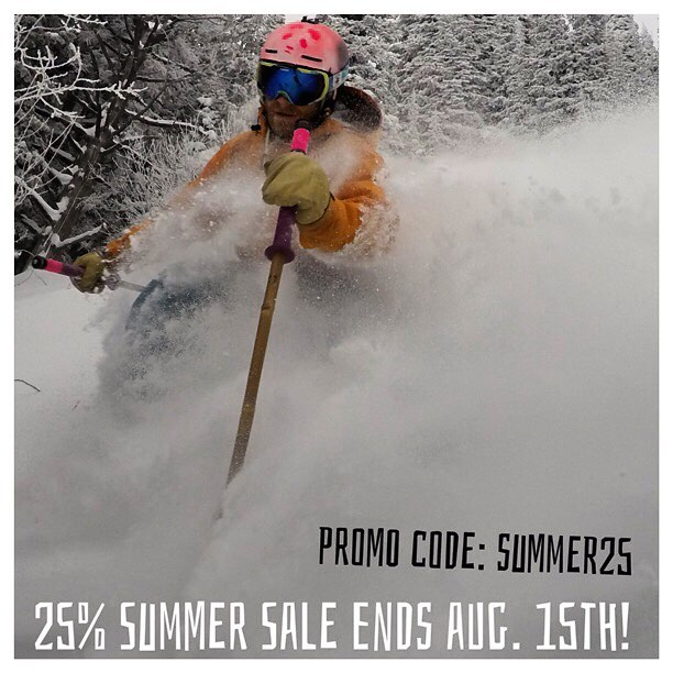 It's August! Winter is coming!  Get a leg up on the season and save a buck with promo code SUMMER25! Valid thru Aug. 15th, only at PandaPoles.com!  #TribeUP August!  Photo: @boferro  @tansnowman  #PandaPoles #PANDALANCHE #TanSnowMan #Skiing #SkiTheRock