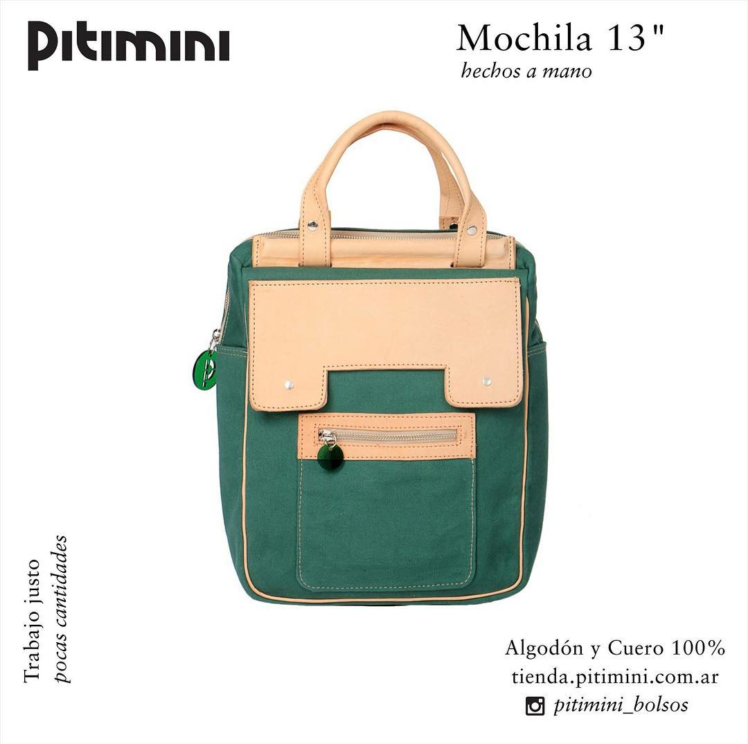 "Mochila 13"" #portalaptop #Pitimini #industriaargentina #hechoamano #sellobuendiseño"