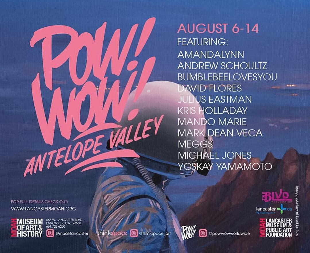 We are beyond stoked to be apart of @powwowworldwide  Antelope Vally! • • Stay tuned between Aug. 6th-14th.  SPRATX will be in Cali to bring you up close and personal to all the action on the ground. Can't wait to see all our artists friends! • • //...