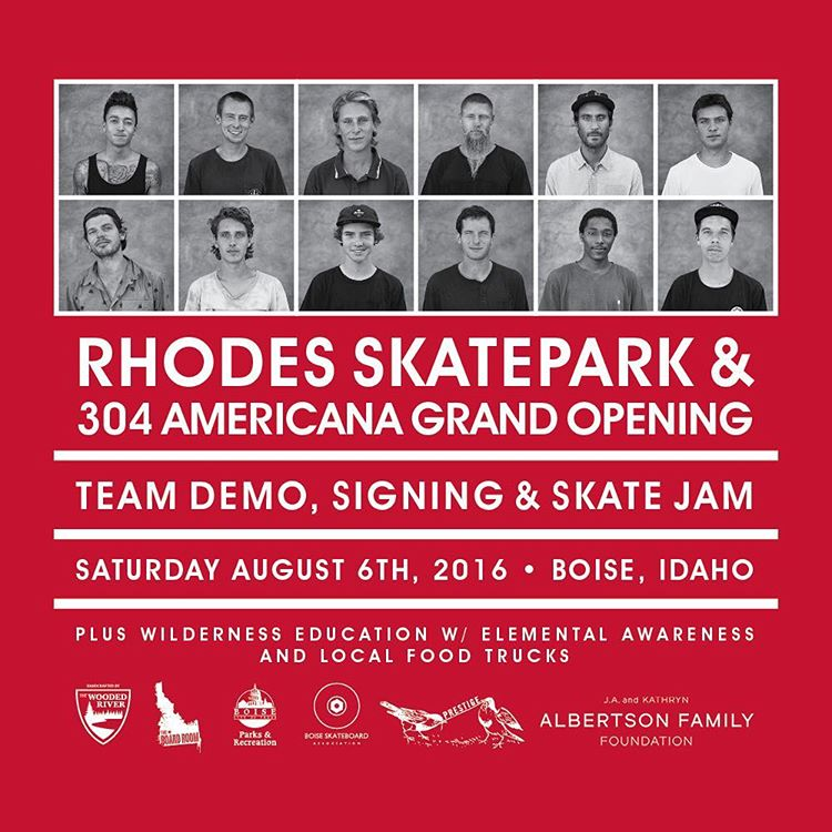 ​The #elementboise event is going down Saturday August 6th, celebrating the grand opening of #rhodesskatepark and the Element 304 Americana space >>> @nyjah, @westgatebrandon, @greyson_fletcher, @nick_garcia and many more will be on hand doing a skate...