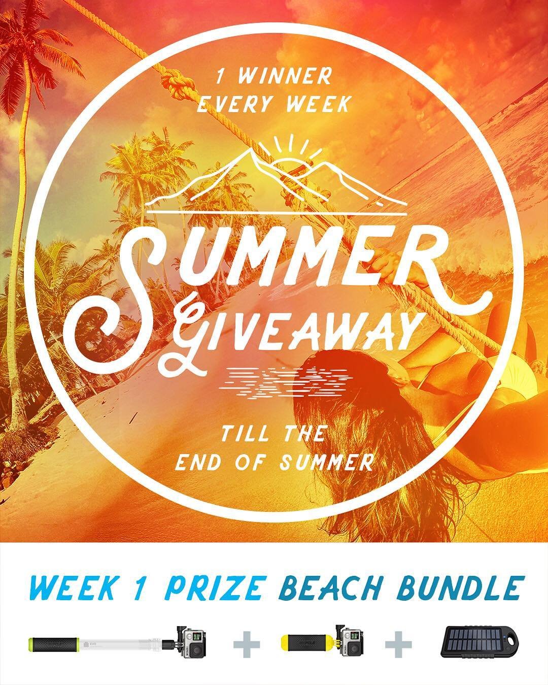 GoPole Summer Giveaway! We will randomly select 1 winner a week (every Monday) for the rest of the summer. New prizes weekly! Enter daily to increase your chances. No purchase necessary, enter once or enter every day to increase your changes of...