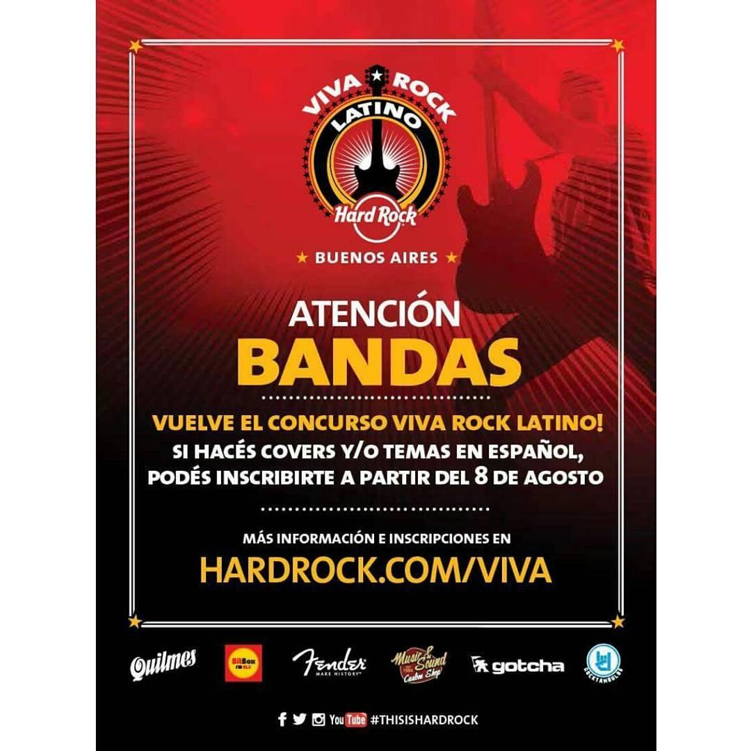 Una vez mas Junto a #HARDROCKCAFE #rockneverdie ¡ATENCIÓN MÚSICOS!