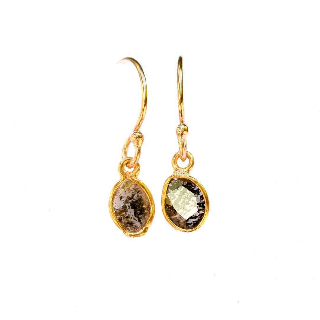 New Seasonal Collections! The Black Diamond Slice Earrings. $154  #juliaszendrei #black #diamonds #diamondslice #earrings #style #sfstyle @cavallopointmercantile