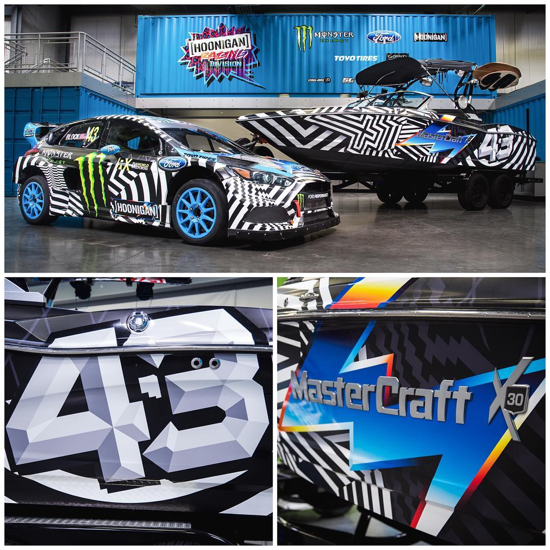 Details + an alternate angle of the newly wrapped @MCBoatcompany X30 wakeboarding boat. Artwork by @FelipePantone. I love it on the boat because I really like 80's art - especially on offshore racing boats from the Miami area - and this has a hint of...