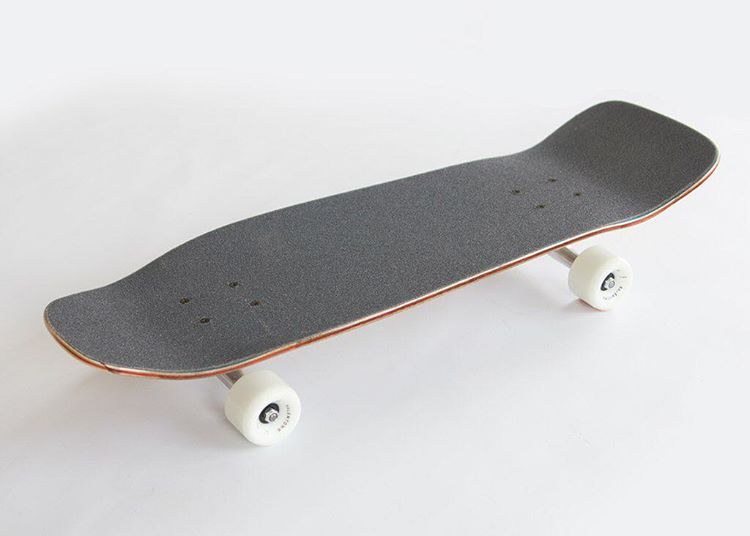 One of our favorites is The Chipper. An old school shape set up with cruiser wheels, it's an all around do anything board.