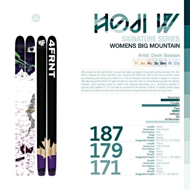 In honor of the upcoming Mother's Day, we're giving you a first look at the brand new HOJI-W. This women's specific ski celebrates the fact that ladies rip. They can do anything the boys can do and they smell so much better too. If the lady in your...